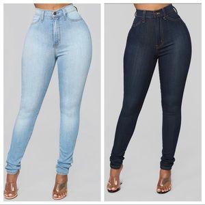 Fashion Nova High Waisted Jeans Bundle (4 pairs)